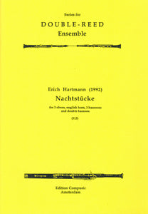 Hartmann: Nachtstucke - 3 ob, english horn, 3 bsn, contra (Wind Ensemble)