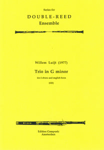 Luijt: Trio in G minor, Op. 2 - 2 oboes, english horn (Wind Ensemble)