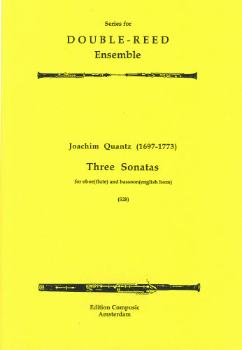 Quantz: Three Sonatas - oboe (flute), bassoon (cor) (Wind Ensemble)