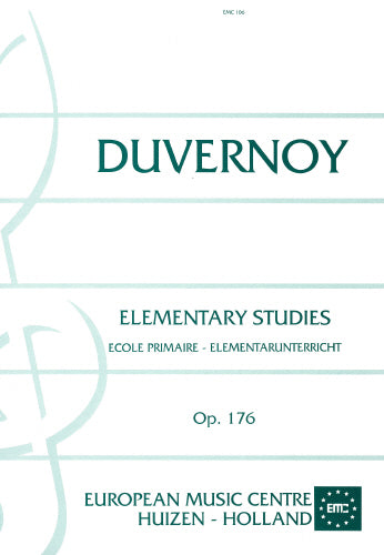 Duvernoy: Elementary Studies  Op. 176 - piano