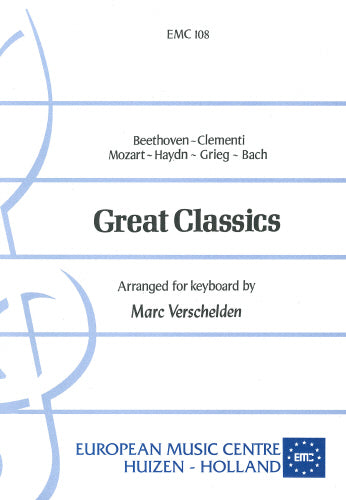 Great Classics arranged for keyboard: Verschelden