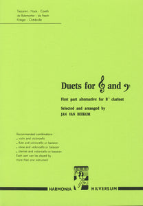 Duets for treble and bass clef