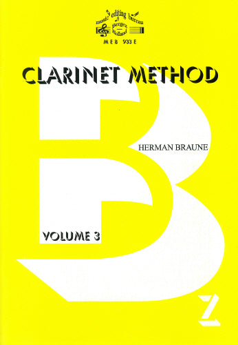 H Braune: Clarinet Method Volume 3