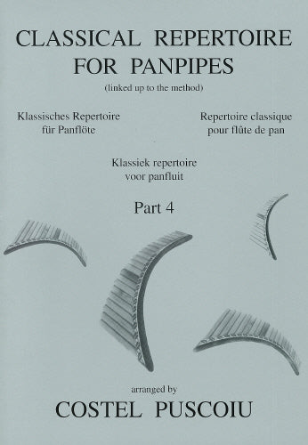 Puscoiu: Classical repertoire for panpipes 4 - panpipe