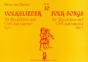 10 Folk-Songs for Recorders and Orff-instruments