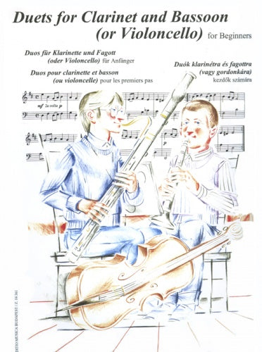 Duets for Clarinet and Bassoon (or Violoncello) for beginners
