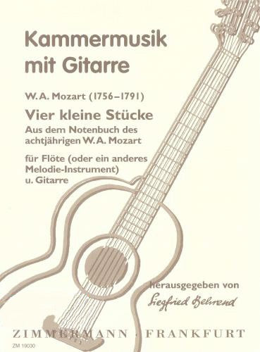 Mozart: 4 Little Pieces (Kleine Stucke) for Violin and Guitar