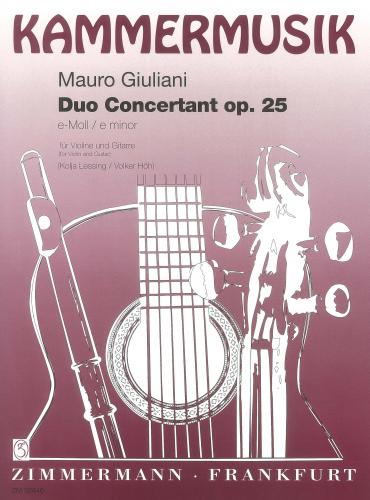 Mauro Giuliani: Duo Concertant Op. 25 for Violin & Guitar