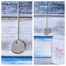 Load image into Gallery viewer, Serenity - sterling silver pendant