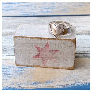 Courage, Dear Heart - Sterling Silver Ring
