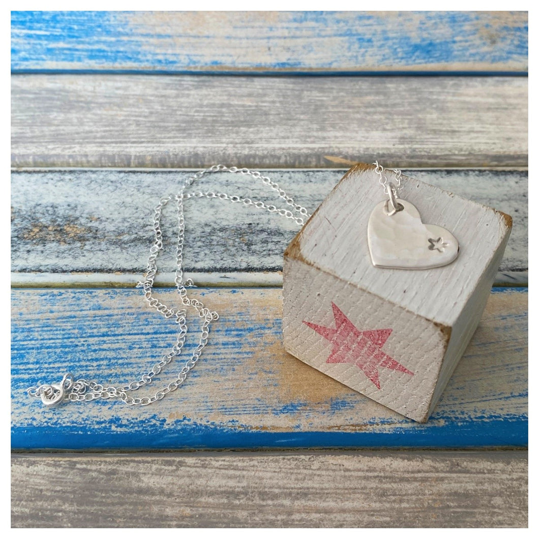 Forever & Always - Handcut Loveheart Pendant