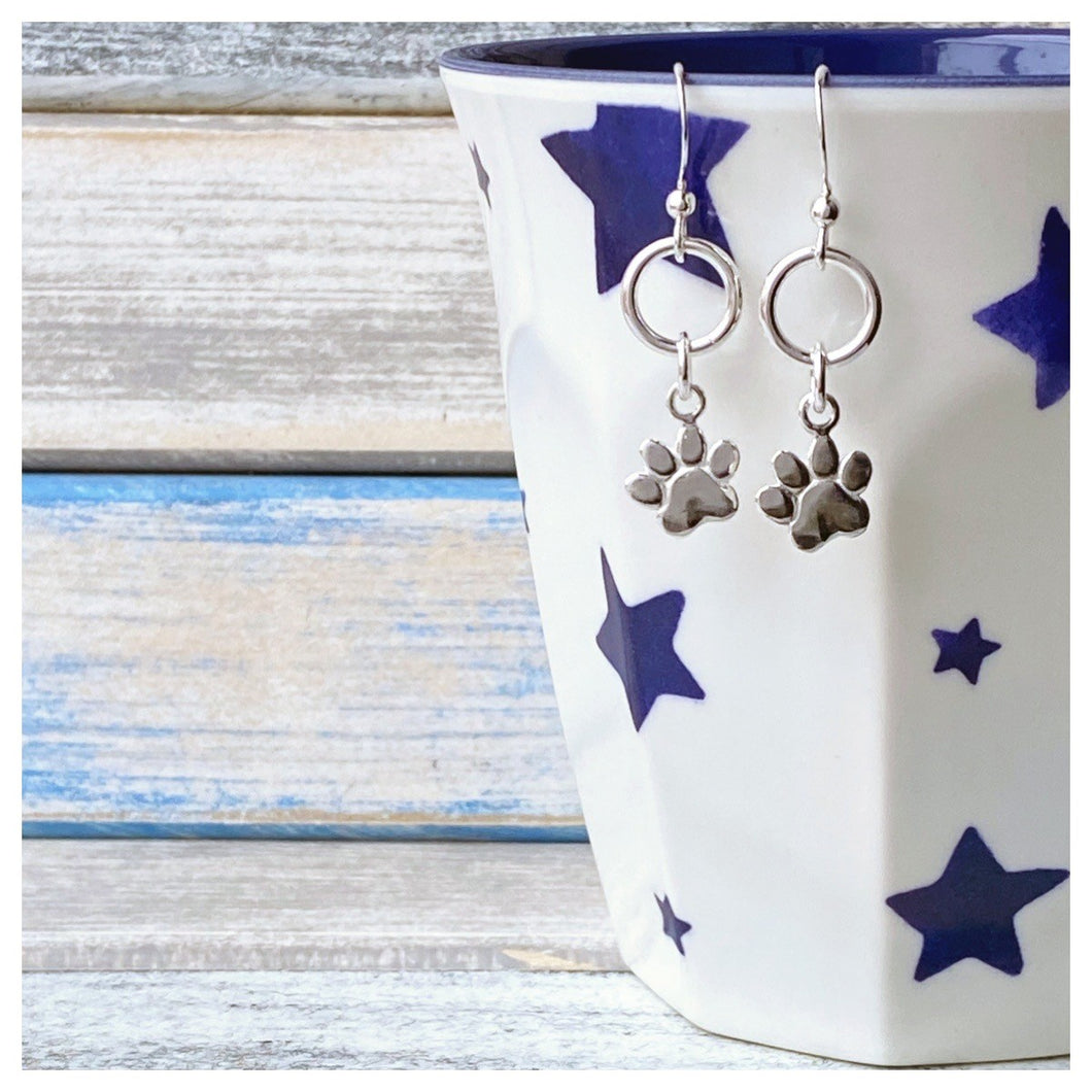 Pawprint Drop Earrings
