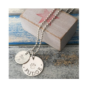 'Best Friend' sterling silver twin charm pendant