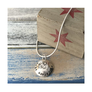 Seek Adventure - Sterling Silver 'Hub Cap' Pendant