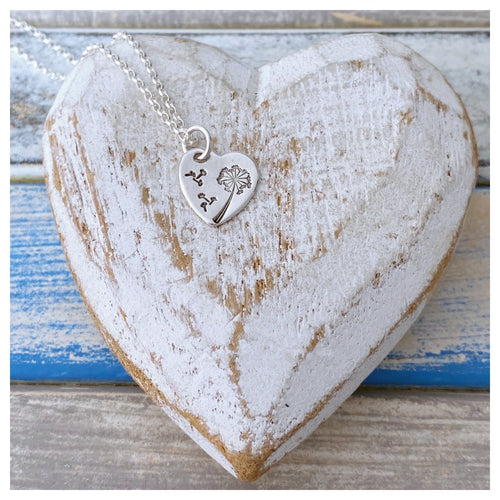 May Your Wishes Come True - sterling silver loveheart pendant