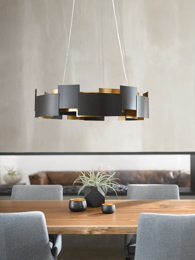 Moderne LED Bronze Chandelier - The Home Decor Lounge