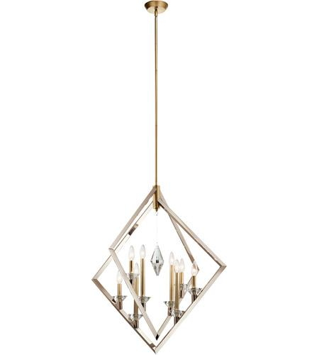 Layan Polished Nickel Chandelier Ceiling Light - The Home Decor Lounge