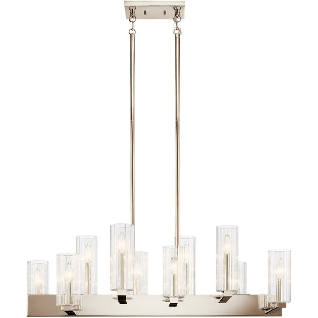 Cleara Polished Nickel Chandelier - The Home Decor Lounge