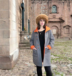 Alpaca Coat: Rust - Pearl Grey (Reversible) - Homunculus