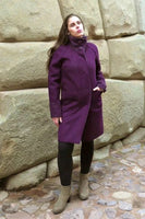 Alpaca Coat: Purple - Light Grey (Reversible) - Homunculus