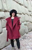 Suri Alpaca Coat - Red (Non-Reversible) - Homunculus
