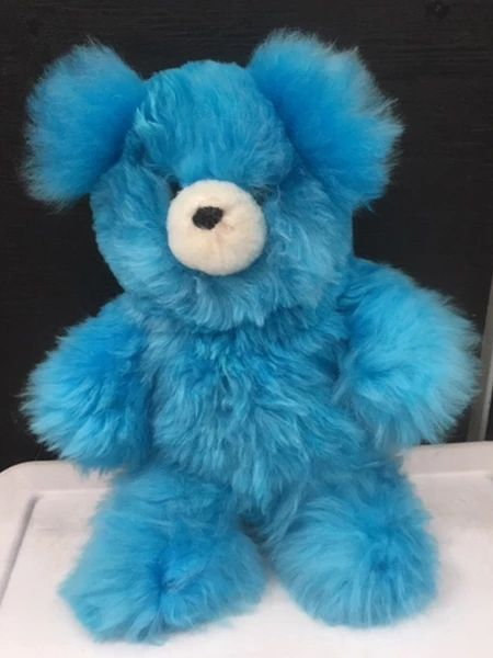 Alpaca Stuffed Toy - Blue Bear - Homunculus