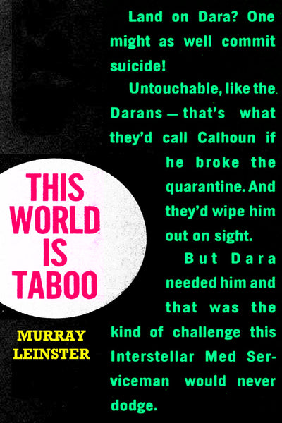 """This World Is Taboo"" by Murray Leinster (Kindle Edition) - Preview Available) - Homunculus"