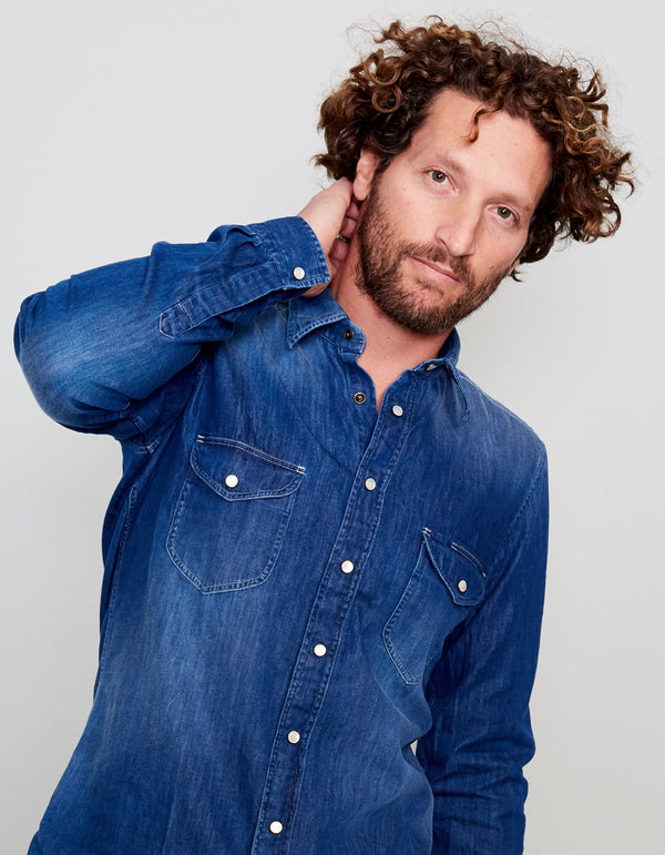 YUKON LUXURY SOFT DENIM WORK SHIRT