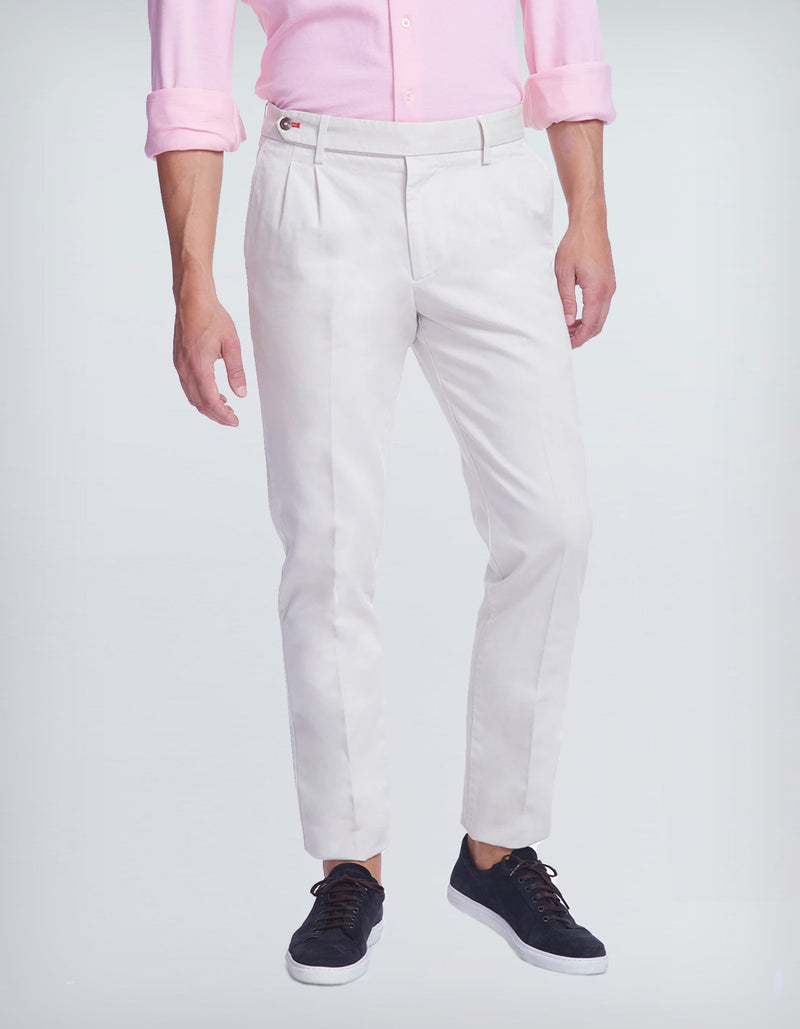 ADMIRAL COTTON STRETCH TWO PLEAT CHINO