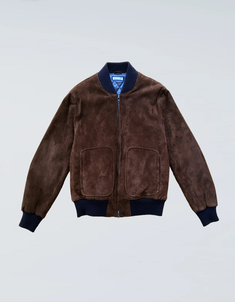 SUEDE LEATHER BOMBER JACKET