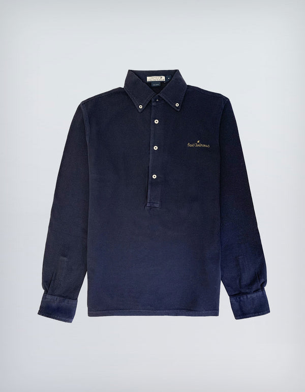 SANT AMBROEUS X CREMIEUX GARMENT DYED LONG SLEEVE POLO
