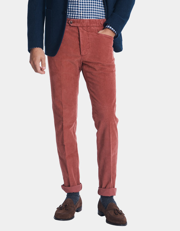LUXURY CORDUROY SIDE TAB PANT