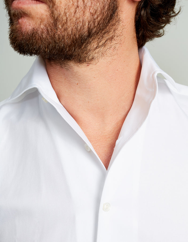 ORGANIC COTTON TWILL SPREAD COLLAR SHIRT