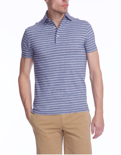 TERRY SUPIMA COTTON OXFORD STRIPE POLO