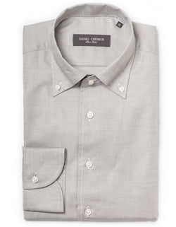 DOM PINPOINT OXFORD ONE-PIECE-BUTTON DOWN COLLAR
