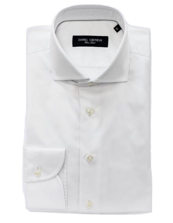 J BOND SPREAD COLLAR WHITE SHIRT