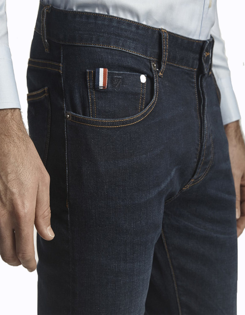 TEXAS DETAILS AND 5 POCKET DENIM RINSE JEANS