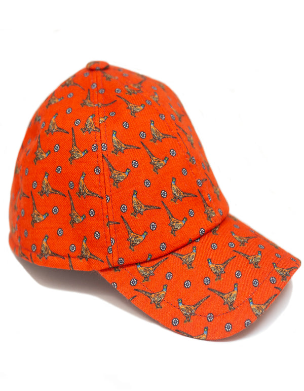 SWING WOOL FLANNEL PHEASANT PRINT BASEBALL CAP