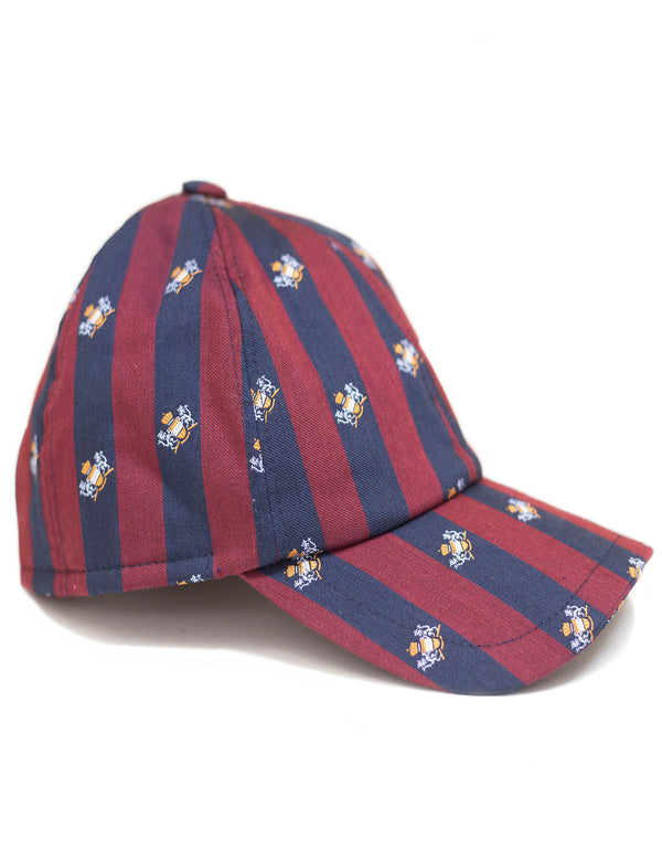 SWING SILK REGIMENTAL STRIP BLASON EMBRODERY CAP