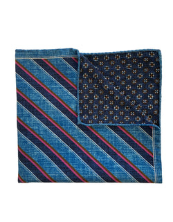 FAZZOLETTO SILK COTTON DOUBLE SIDED POCKET SQUARE