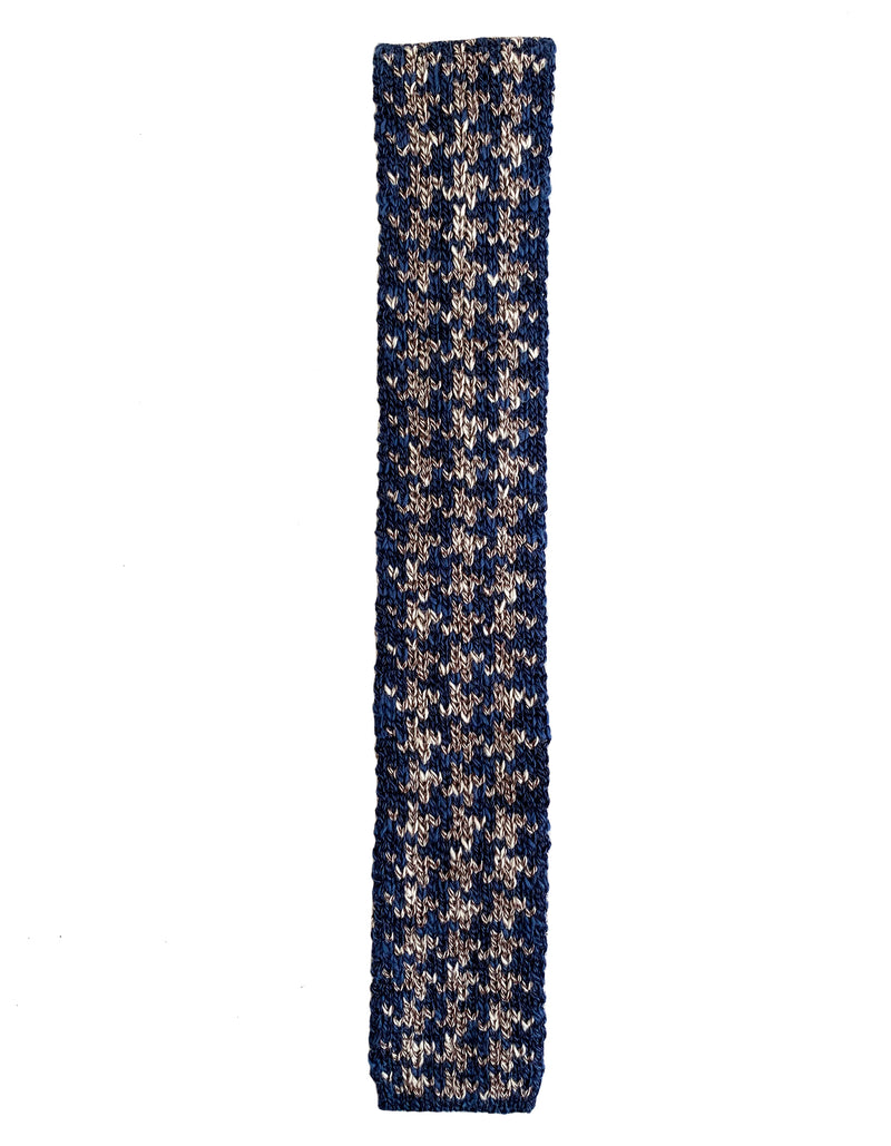 COMO COTTON BIG HOUNSTOOTH KNIT TIE