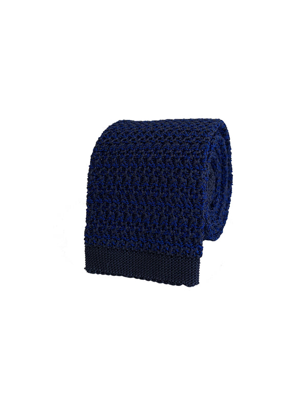 COMO SILK KNIT TIE IN ROYAL BLUE COLOR