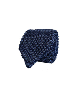 COMO SILK KNIT TIE IN BLUE AZUL COLOR