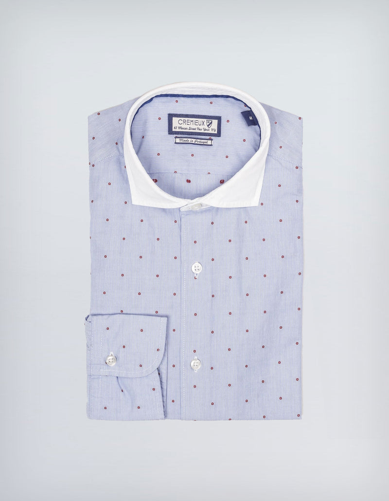 NEW PRINCE DOT FIL COUPE MINI STRIPE BLUE RED SHIRT