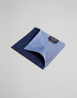 COTTON CHAMBRAY PRINTED POCKET SQUARE