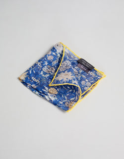 LINEN FLOWER PRINTED POCKET SQUARE