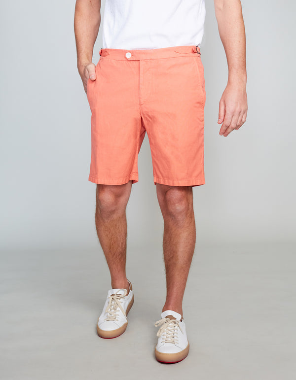APRICOT GARMENT DYED SHORTS