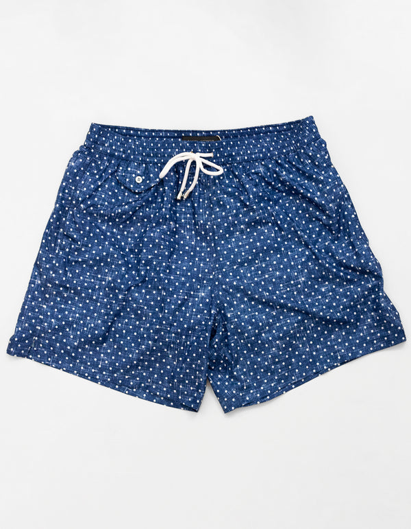BOND POLKA DOT PRINT SWIM SHORTS