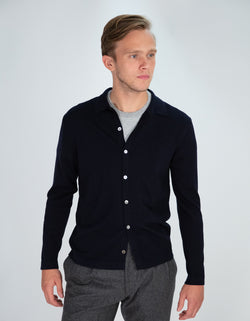BUTTON FRONT SHIRT SWEATER