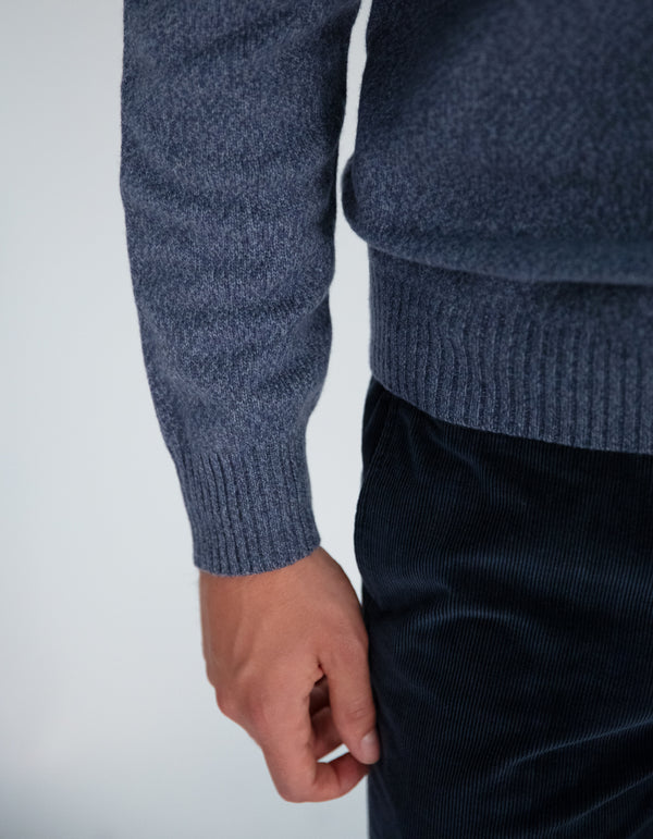 WOOL CASHMERE TURTLENECK SWEATER